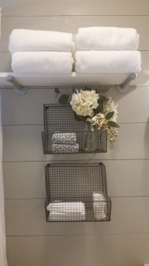 towels and little jars of toiletries