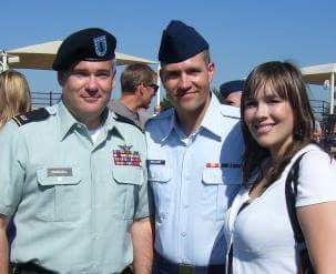 Dad and I at Matt's BMT Graduation