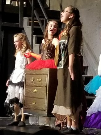 "Madi as ""Madame de la Grande Bouche"" in Beauty and the Beast Jr."