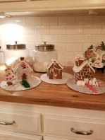 The kids gingerbread creations